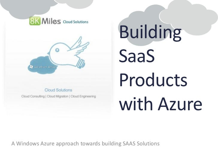 Building SaaS products with Windows Azure