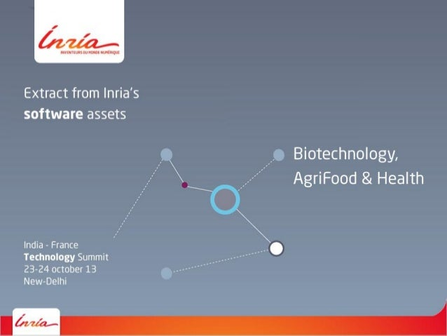 Inria - Software assets - Biotechnology