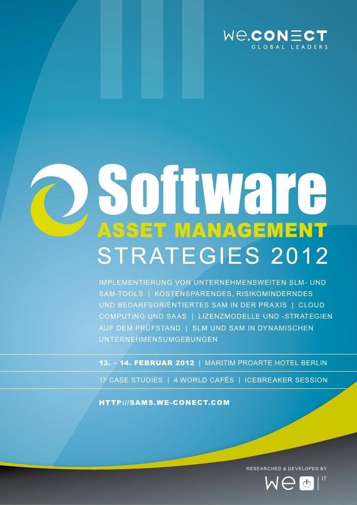 Software Asset Management Strategies 2012