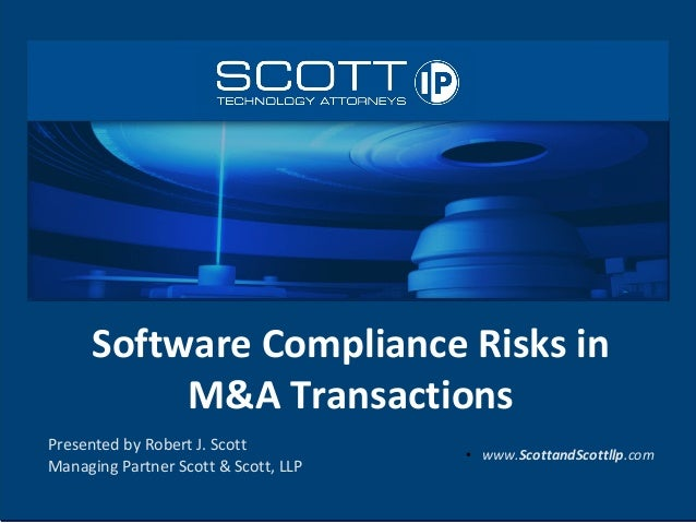 Software Compliance Risks in M&A Transactions