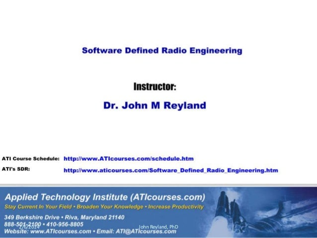 Software Defined Radio Engineering course sampler