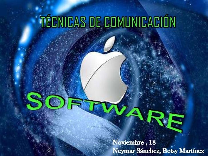El término software formado por soft (blando) y ware, no tienetraducción correcta en nuestro idioma. Se emplea para refer...