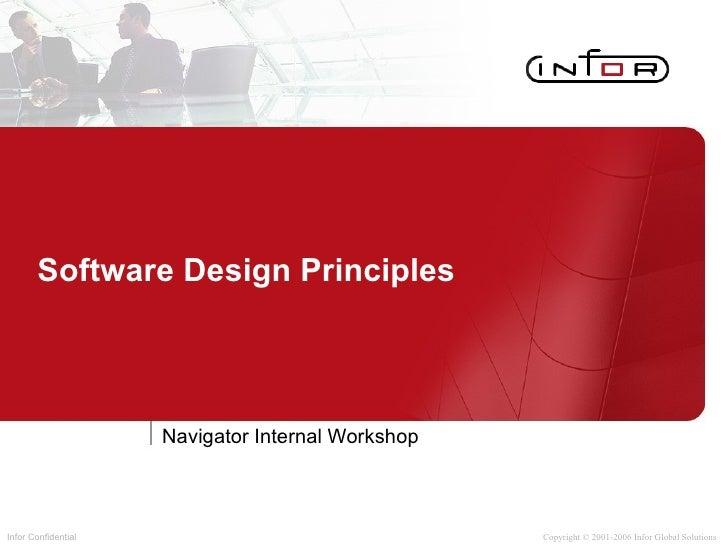 Software Design Principles Navigator Internal Workshop