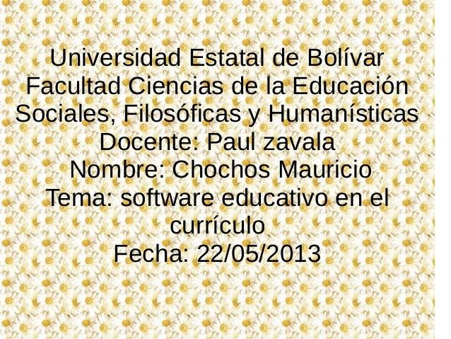 Universidad Estatal de BolívarFacultad Ciencias de la EducaciónSociales, Filosóficas y HumanísticasDocente: Paul zavalaNom...