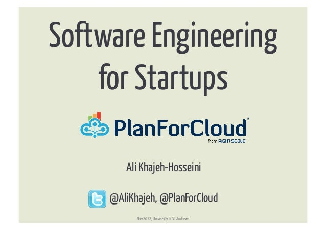 Software Engineering For Startups
