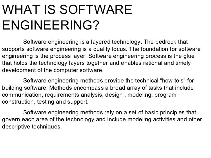 software engineering report Software maintenance overview - learn software engineering concepts in simple and easy steps starting from their overview and then covering software analysis, software requirements, software design and its complexities, interface design, software design strategies, software development life cycle, software implementation, project.