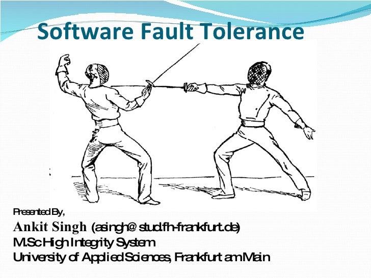 Software Fault Tolerance
