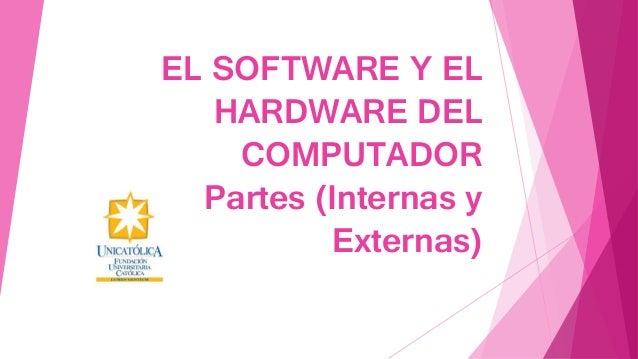EL SOFTWARE Y EL HARDWARE DEL COMPUTADOR Partes (Internas y Externas)