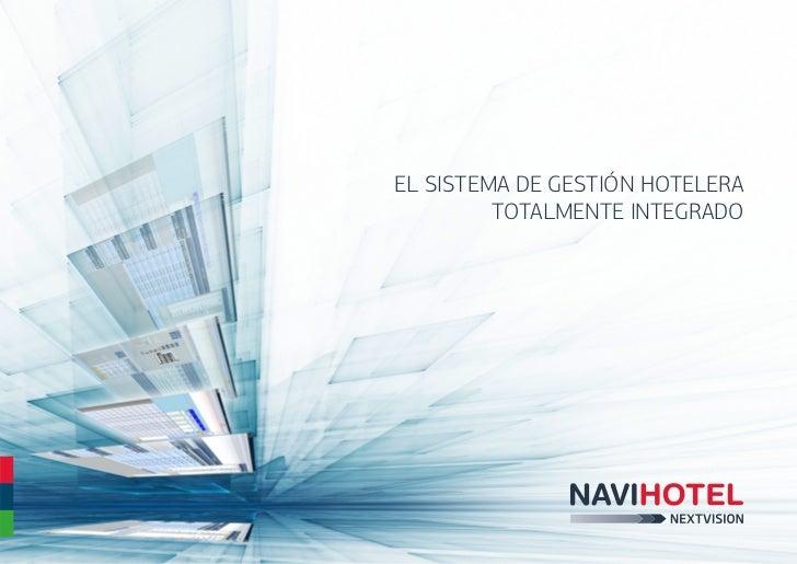 Folleto del Software Hotelero Navihotel