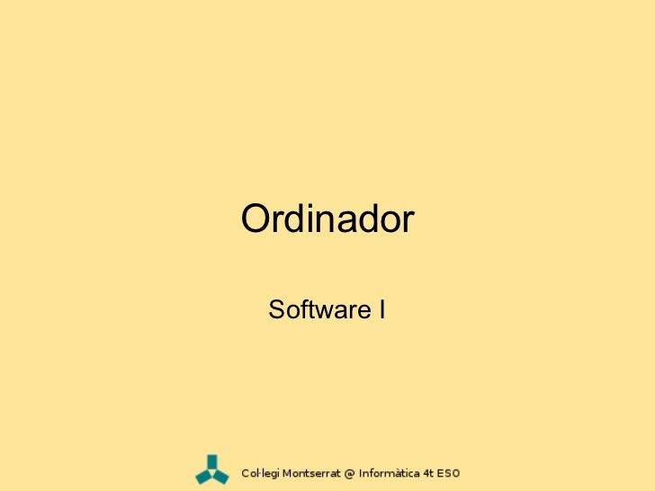 Ordinador - Software i