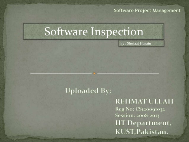 software project management Software inspection