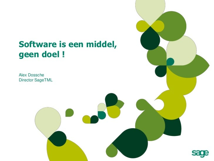 [Dutch] Software is een middel, geen doel!