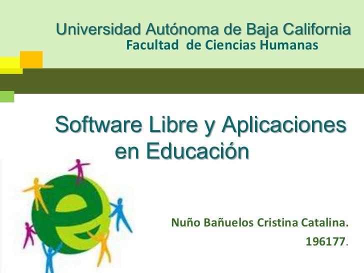 Facultad  de Ciencias Humanas<br />Universidad Autónoma de Baja California<br />      Software Libre y Aplicaciones       ...