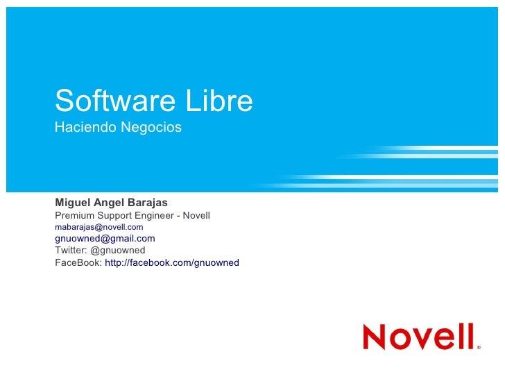 Software Libre   Haciendo Negocios   Nov 2009   UABCS