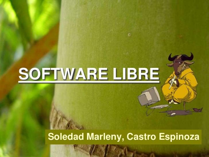 SOFTWARE LIBRE  Soledad Marleny, Castro Espinoza