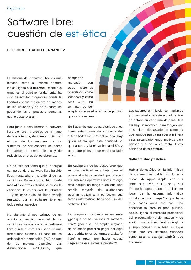 Software libre: cuestión de estética