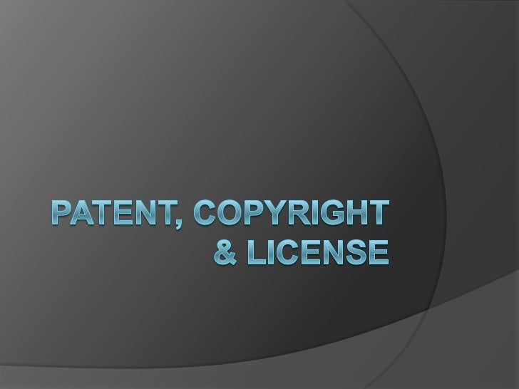 Patent There is no universal definition. Functional expression of an idea - not  the idea itself. It is given by a stat...