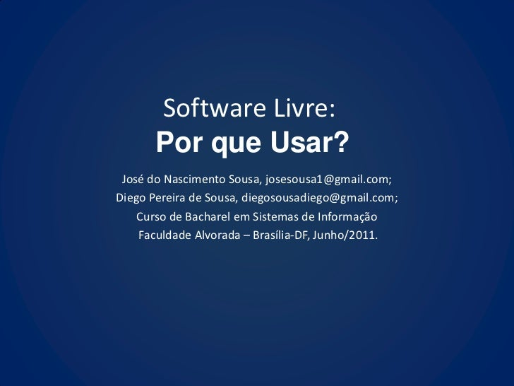 Software livre por que usar?   slide