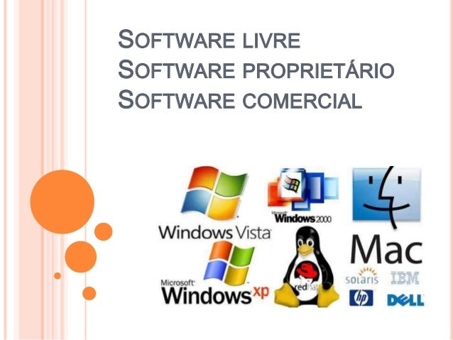 SOFTWARE LIVRESOFTWARE PROPRIETÁRIOSOFTWARE COMERCIAL