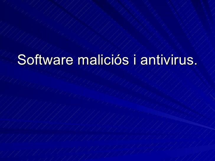 Software MalicióS