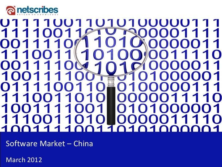 SoftwareMarket– ChinaMarch2012