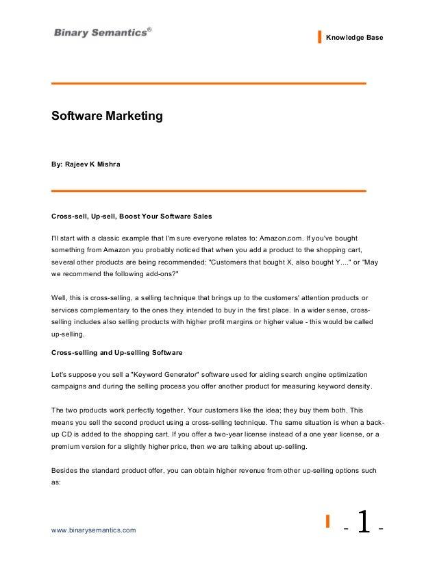 Software Marketing - A Perfect Guide by Binary Semantics