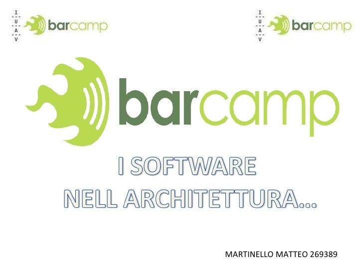 Software nell' architettura