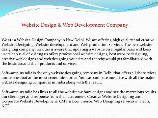 Website Design & Web Development CompanyWe are a Website Design Company in New Delhi, We are offering high quality and cre...
