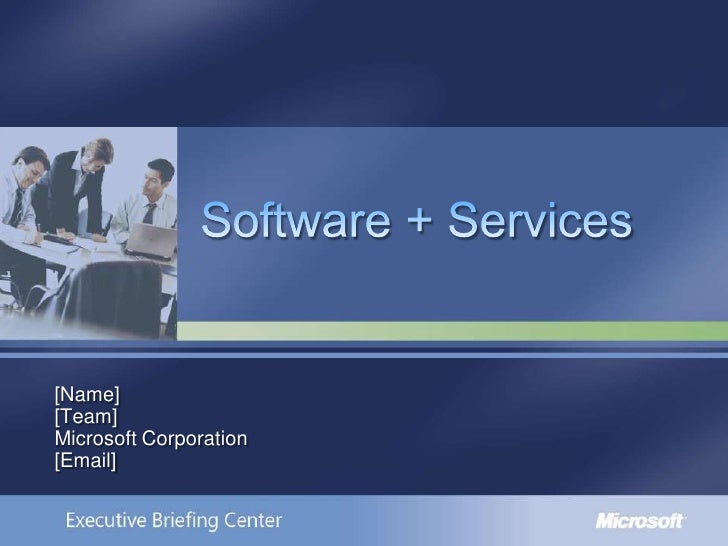 Software Plus Services Customer Deck[1]