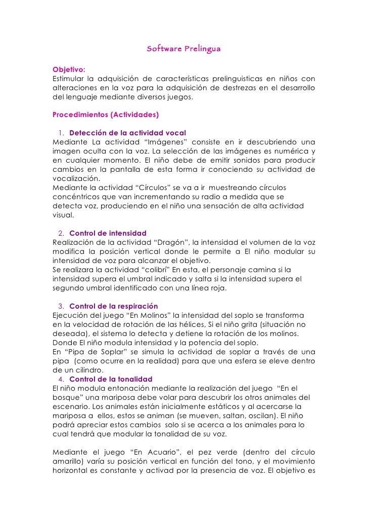 Software prelingua