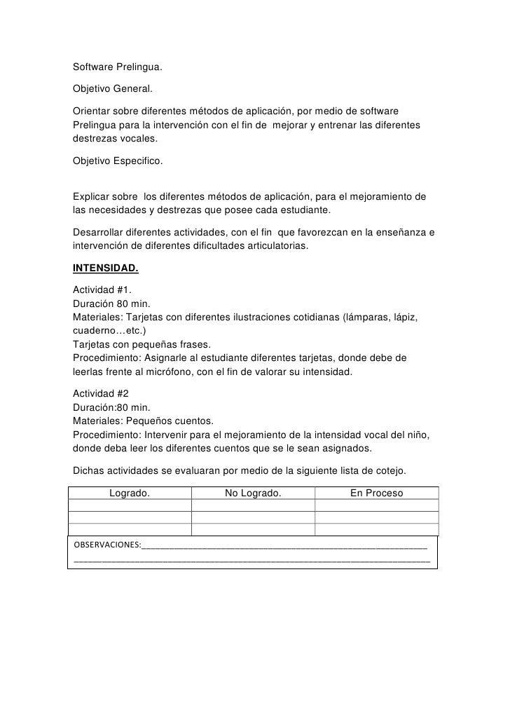 Software prelingua y Evo