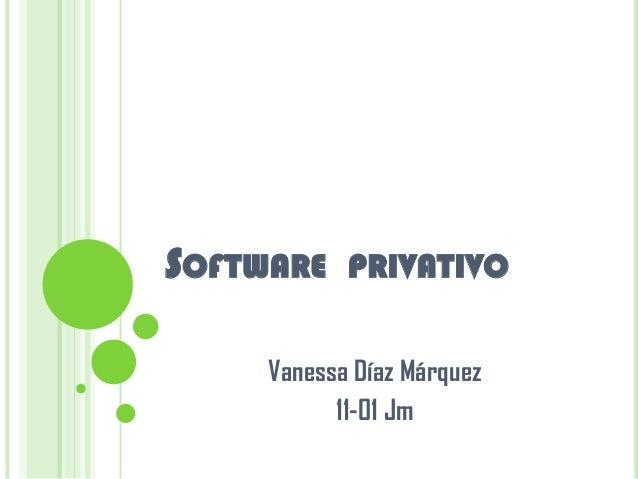 Software  privativo