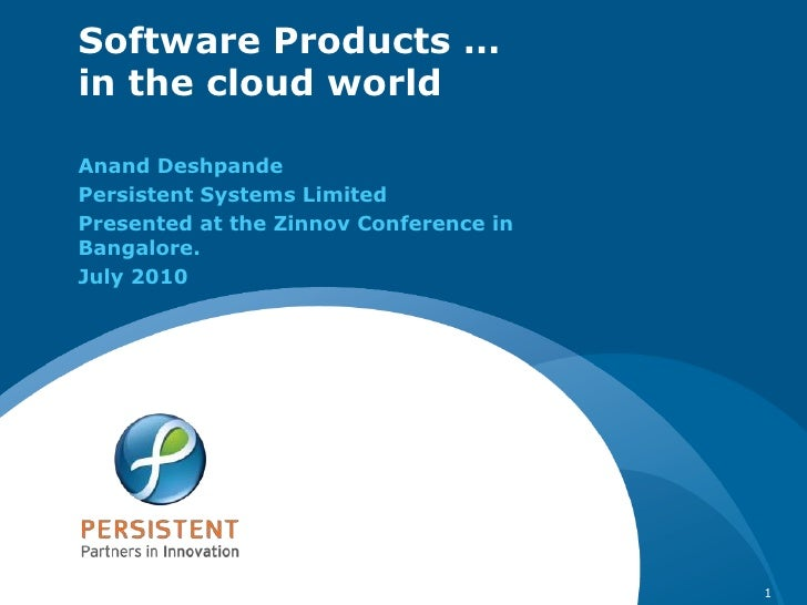 Software products in the cloud world