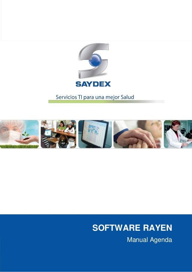 Software rayen   agenda