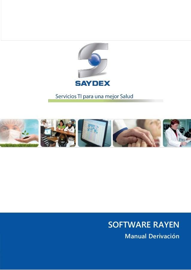 Software rayen   derivacion