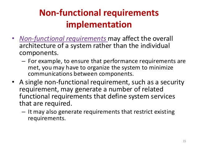 non functional requirements template - software requirement and specification