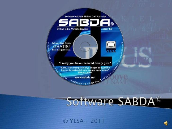 Software SABDA©<br />© YLSA - 2011<br />