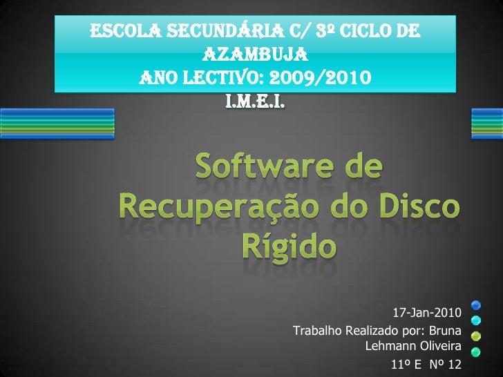 Escola Secundária c/ 3º Ciclo de           Azambuja     Ano Lectivo: 2009/2010             I.M.E.I.                       ...
