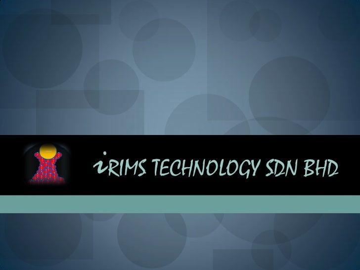 Software solution i rims technologies