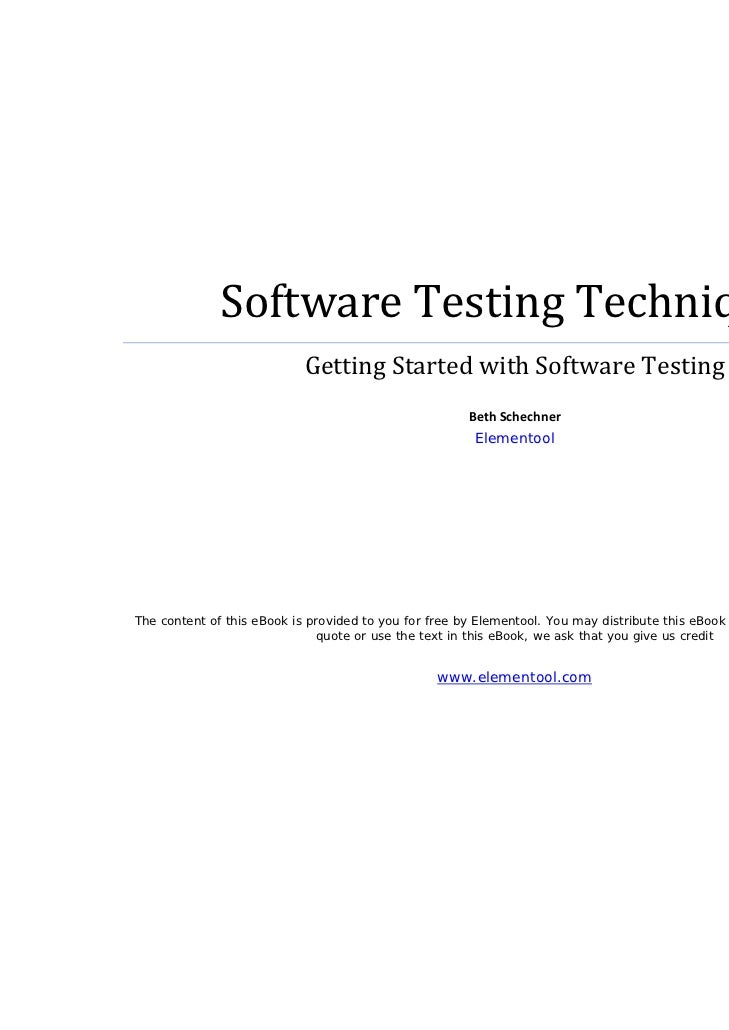 SoftwareTestingTechniques                               GettingStartedwithSoftwareTesting      ...