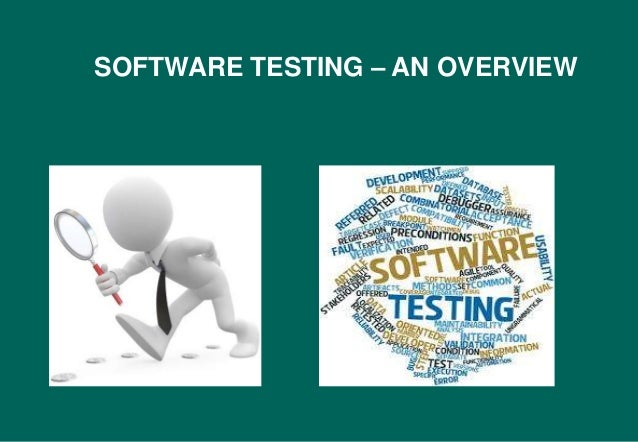 Software testing overview subbu