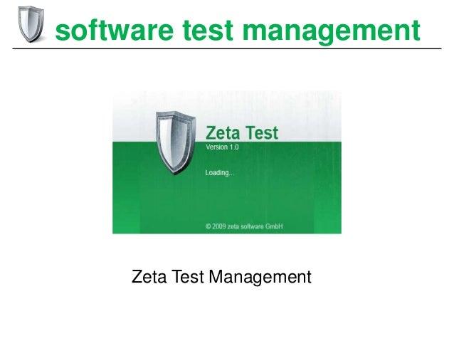 software test management  Zeta Test Management