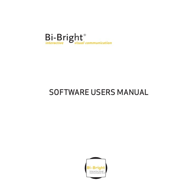SOFTWARE USERS MANUAL