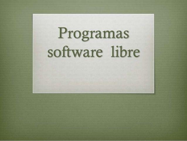 Programassoftware libre