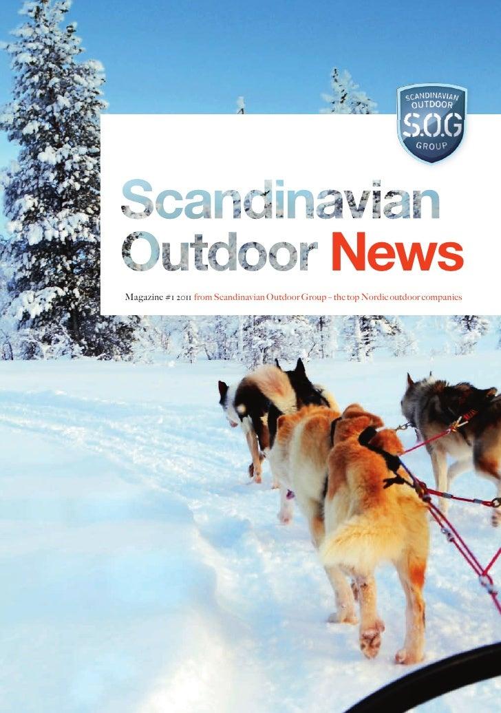 NewsMagazine #1 2011 from Scandinavian Outdoor Group – the top Nordic outdoor companies