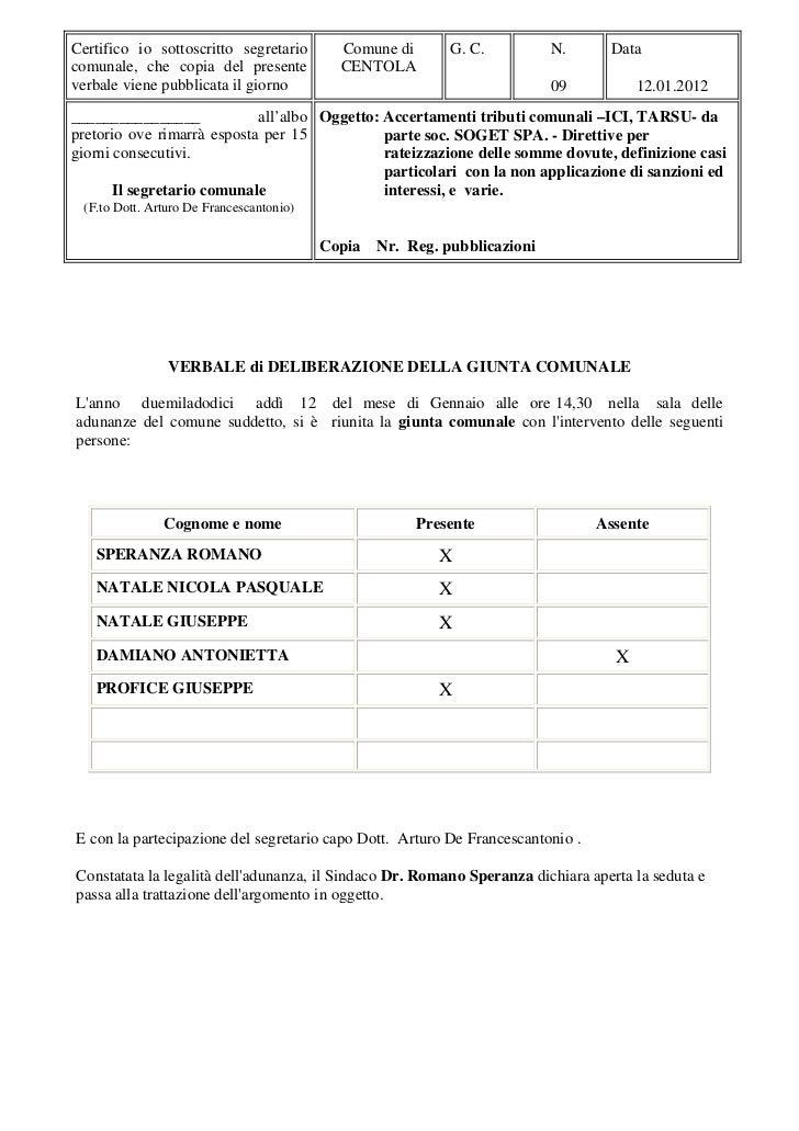 Comune di Centola - Direttive per rateizzazione dei tributi locali dovuti (ICI, TARSU)