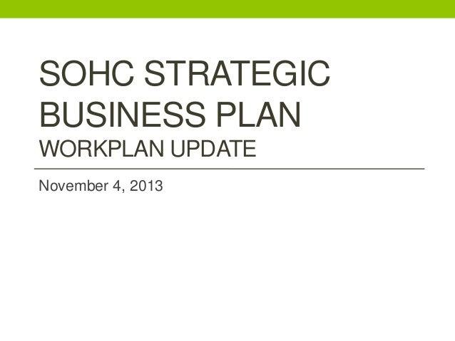 Sohc strategic business plan update