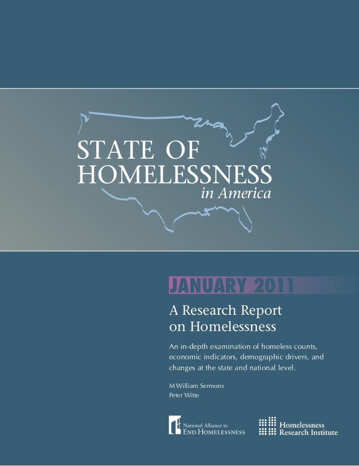 STATE OF    HOMELESSNESS                                                                in America                        ...