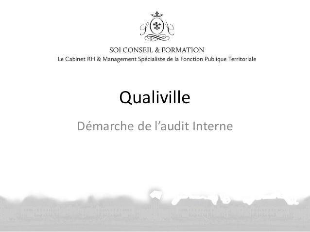 Qualiville Démarche de l'audit Interne