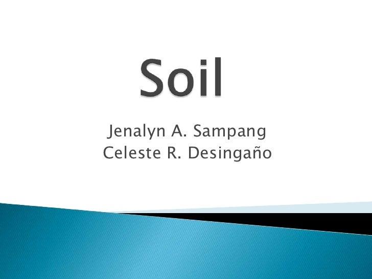Soil<br />Jenalyn A. Sampang<br />Celeste R. Desingaño<br />